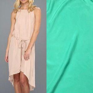 SOFT Joie Jarabi Silk Panel Midi Dress